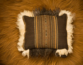 Sheepskin pillow edging certified organic sheepskin accessories and fashion